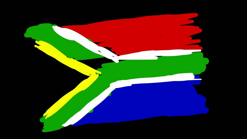 Hand Drawn Animation - South Africa Flag | Shutterstock HD Video #17741836