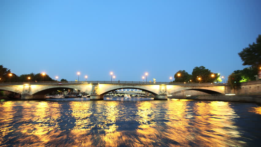 Timelapsed Seine Tour Night