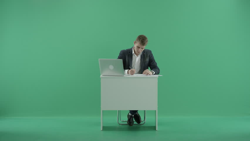 Businessman at the office | Shutterstock HD Video #17784622