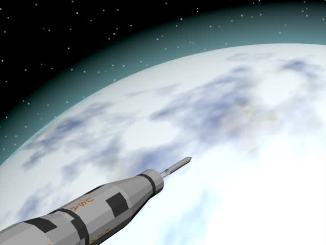 Rocket Series.  A Saturn V type rocket heading for outer space.  Can be sped up or slowed down, no audio.