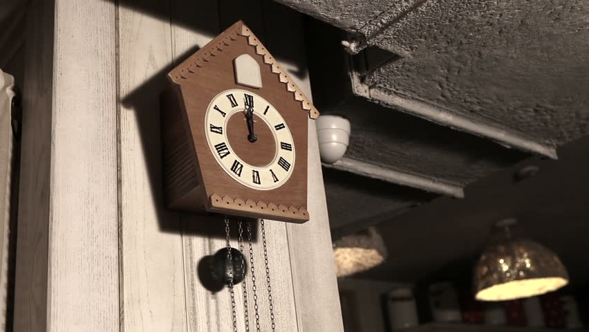 Cuckoo clock stock footage video 2837122 shutterstock - Cuckoo bird clock sound ...