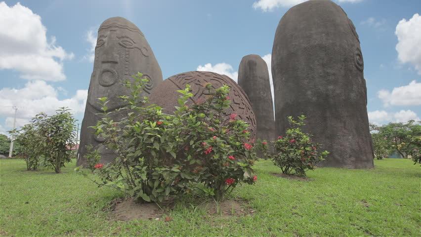 Ikom Monoliths Monument, Calabar, Cross River State, Nigeria.