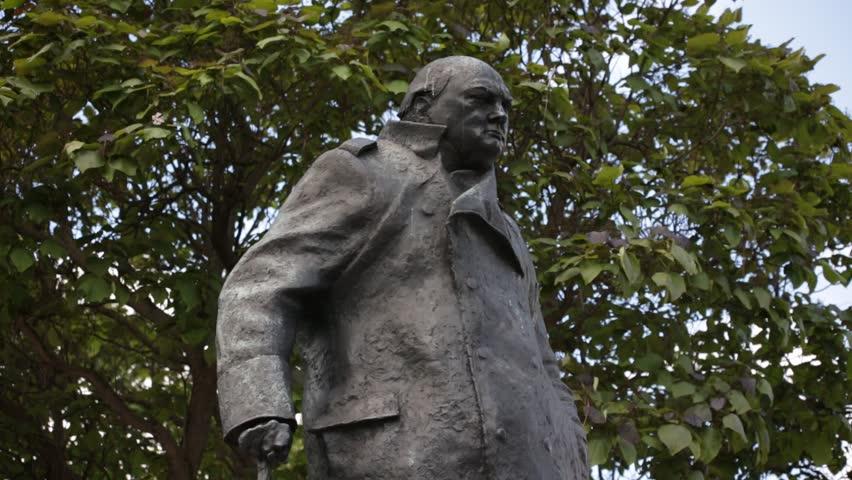 Statue of Winston Churchill on Parliament Square, London