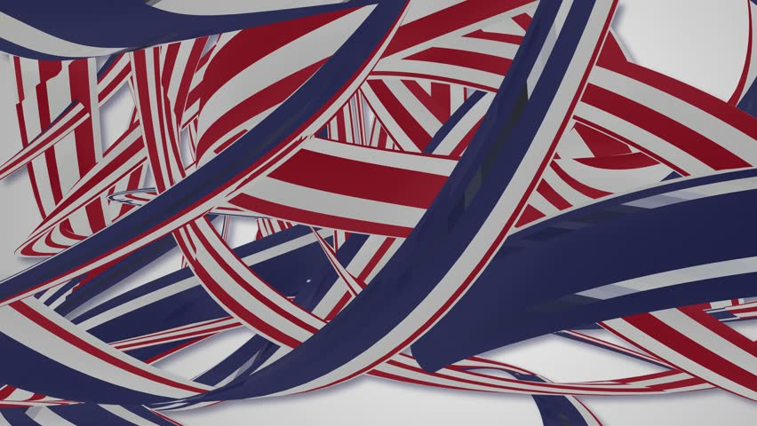 Red white and blue stripes abstract background | Shutterstock HD Video #17863597