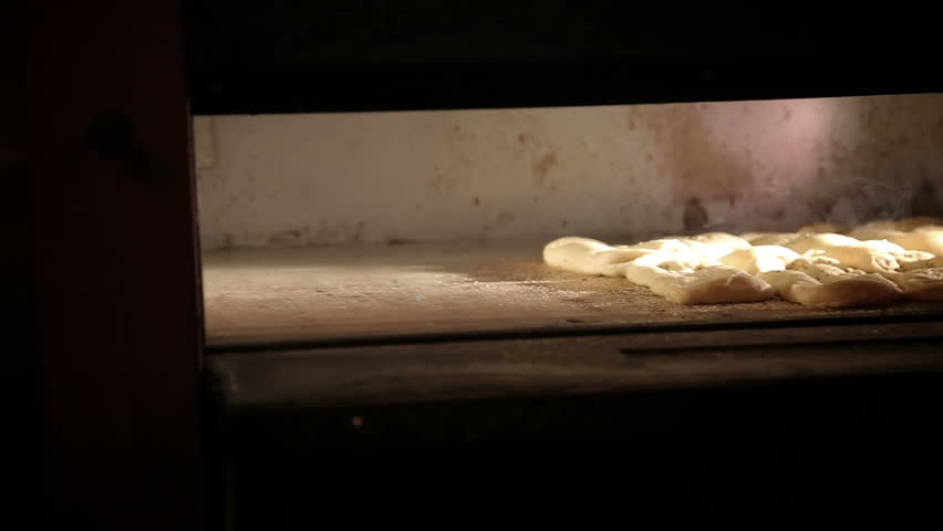 Bread cooked in the oven. Bread bakery