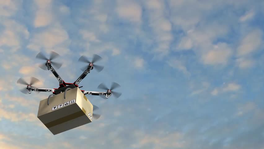 Drone Hexacopter delivers a package | Shutterstock HD Video #17977609
