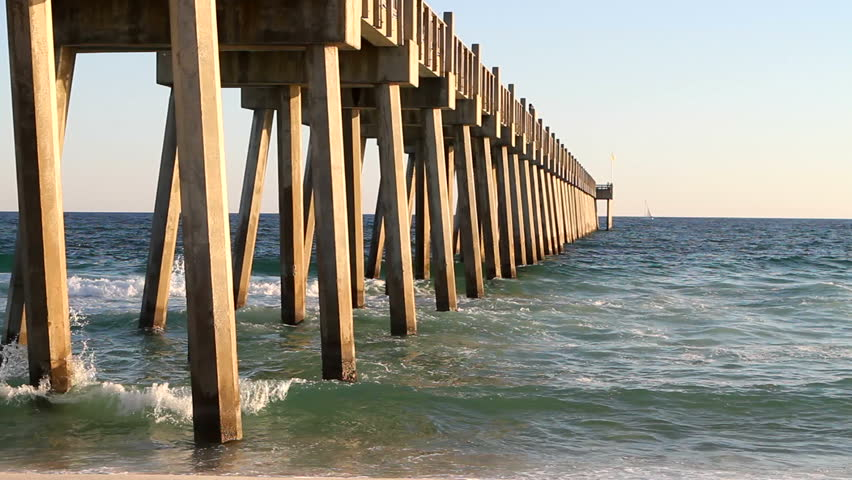 Pensacola beach and gulf of mexico stock footage video for Pensacola beach fishing