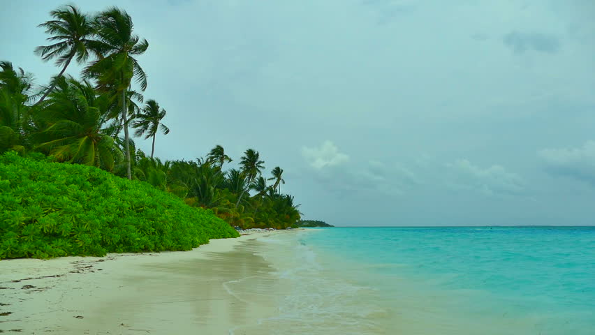 Romantic Pictures Of Tropical Beaches: Seamless Loop Of Fiji Tropical Island Paradise. Romantic