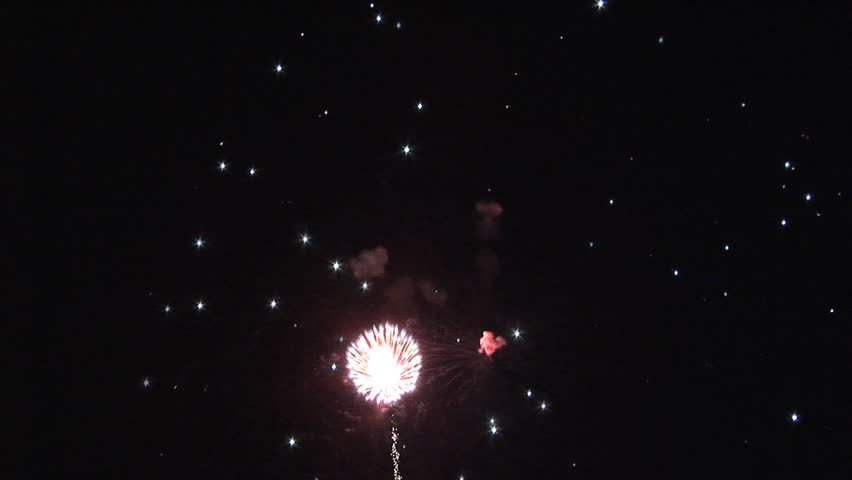 HD Fireworks Display Circa 2016: Spectacular 4th of July Fireworks Display against and empty sky and background. Filmed us a Sony EX-3 in full 1920*1080 native resolutions.