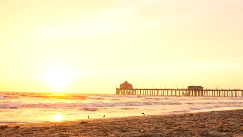 Spectacular Sunset Over Huntington Beach Timelapse