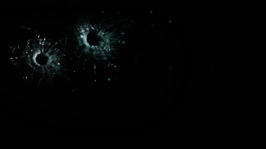 High speed camera shot of shattering glass, isolated on a black background. Can be pre-matted for your video footage by using the command Frame Blending - Multiply.  - HD stock footage clip