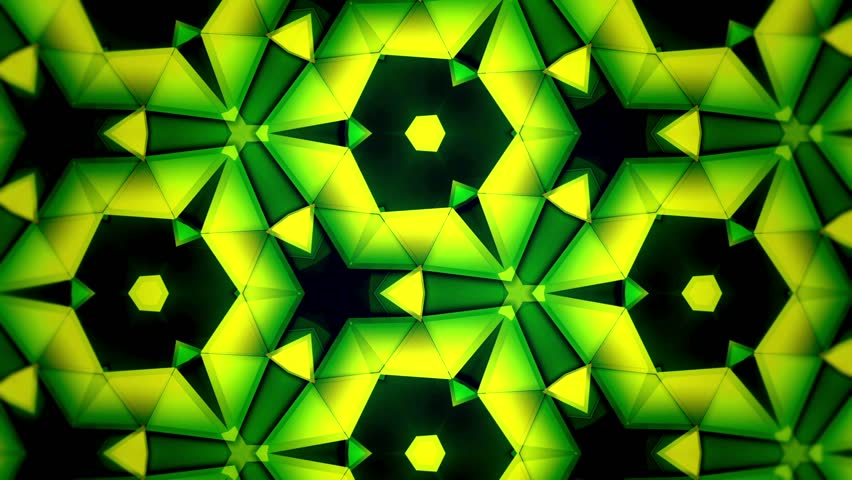 Color Kaleidoscope - Green Yellow Big and Rotate - Tint - 1