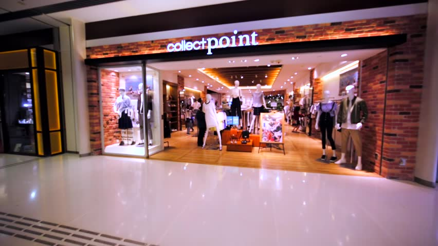 HONG KONG, CHINA - APRIL 2, 2016: Collect Point store in Hong Kong mall. From July 2009 it's retailer specialising in the selling of clothing and accessories.