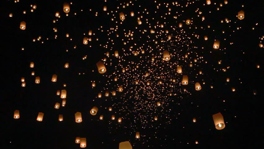 Seamless looping float asian lanterns in Chiang Mai ,Thailand | Shutterstock HD Video #18319465