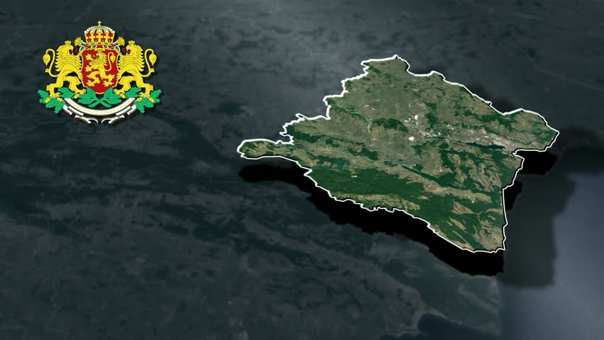 Varna with Coat Of Arms Animation Map Provinces of Bulgaria