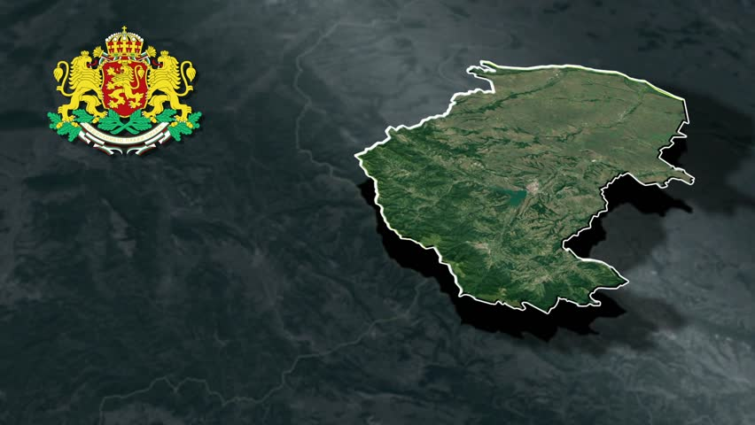 Montana with Coat Of Arms Animation Map Provinces of Bulgaria
