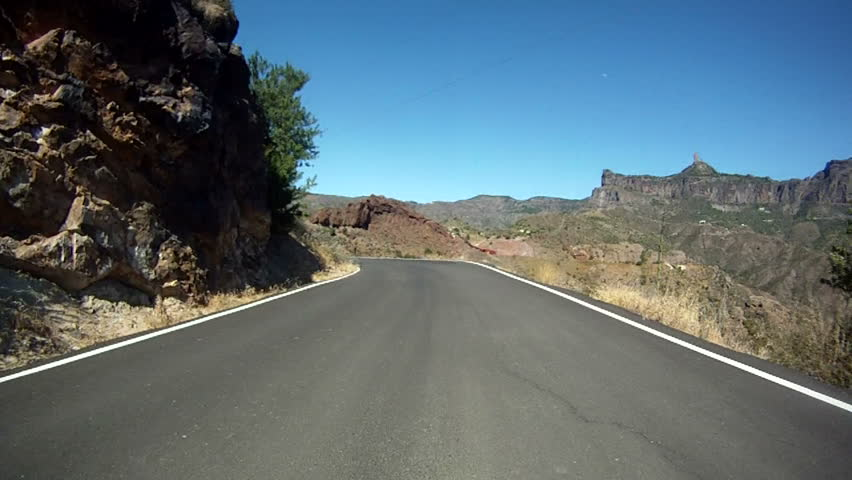 Driving in the mountains of Gran Canaria, Spain. - HD stock footage clip