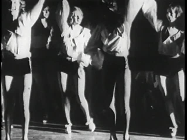 Group of female dancers tap dancing