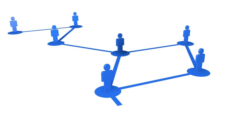 Network growing, creating blue connections. / Red creciendo, creando conexiones azules, | Shutterstock HD Video #18498286
