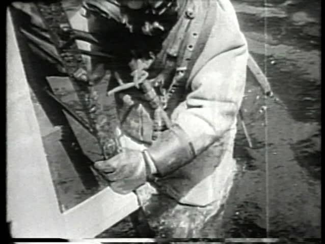 Deep sea diver underwater