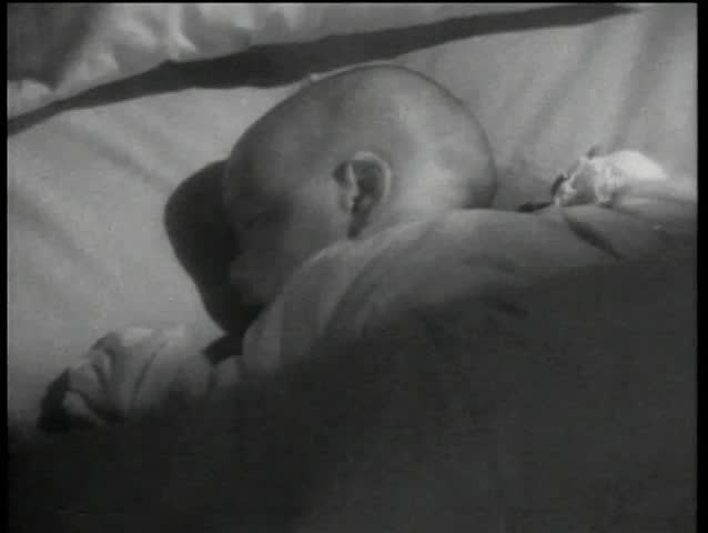 Close-up of infant sleeping peacefully - SD stock video clip