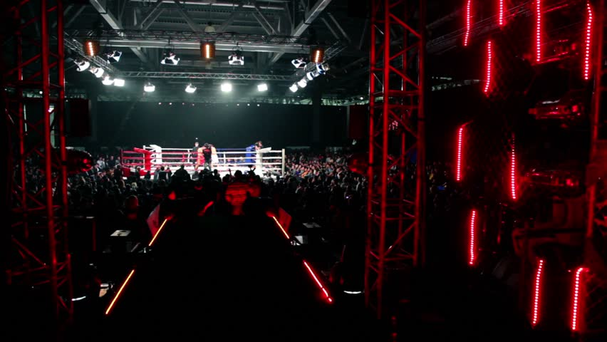 the gallery for gt empty boxing ring crowd