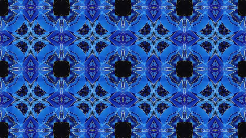 Blue - Kaleidoscope - Square