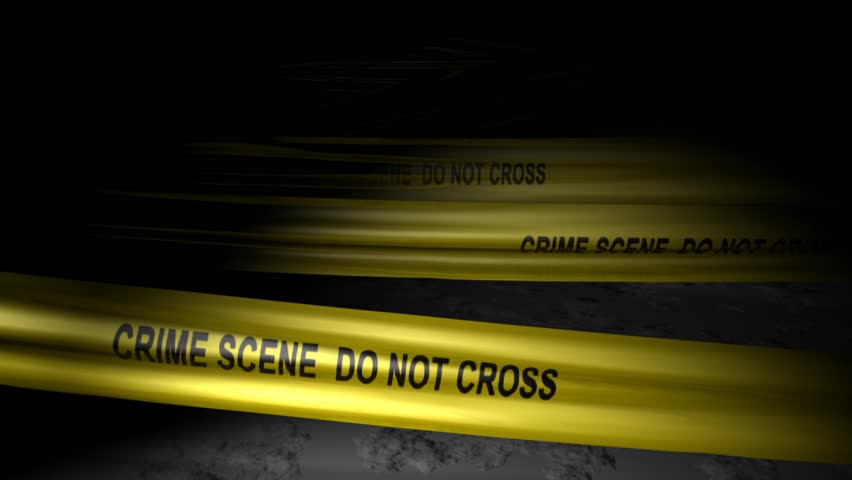 Concept animation, police crime scene tape.