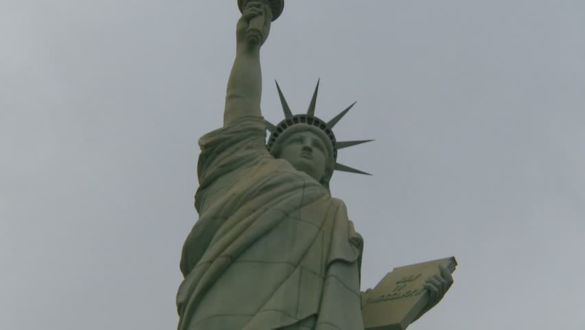 LAS VEGAS, NEVADA, USA - CIRCA 2011: Liberty statue zoom - HD stock video clip