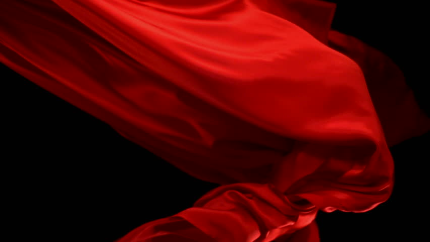 Flowing red cloth