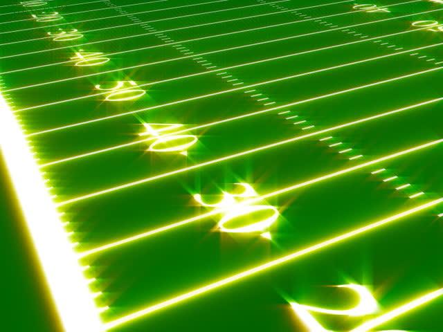 animated football field - SD stock video clip