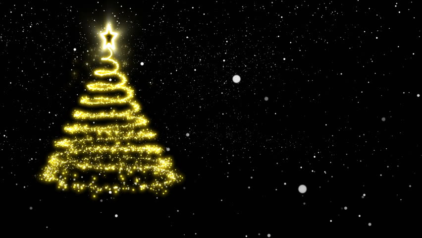 Awesome Gold Lights Christmas Tree Stock Footage Video 2852917 Shutterstock Easy Diy Christmas Decorations Tissureus