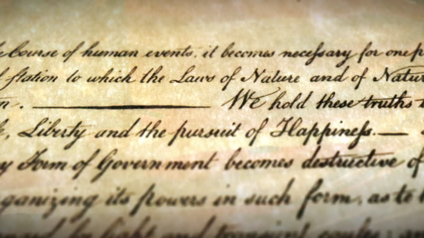 We Hold These Truths line from the US Declaration of Independence 4k