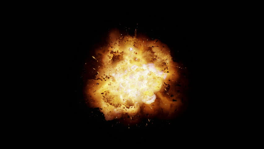 Realistic explosion and blasts with alpha channel. VFX element.
