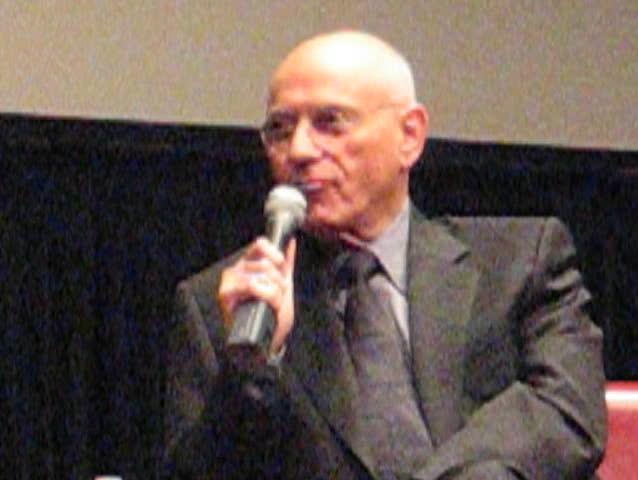 Alan Arkin speaking, NYC - SD stock footage clip