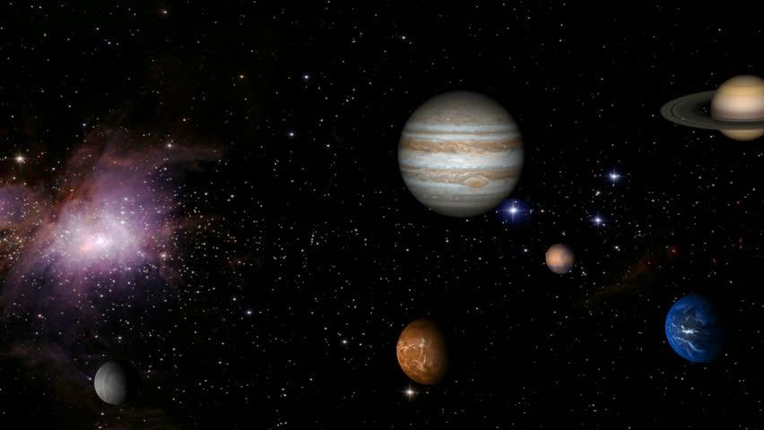 Solar system - HD stock video clip
