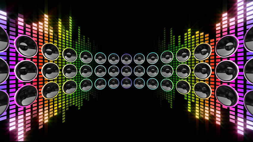 Disco Speaker Background Stock Footage Video 1933915