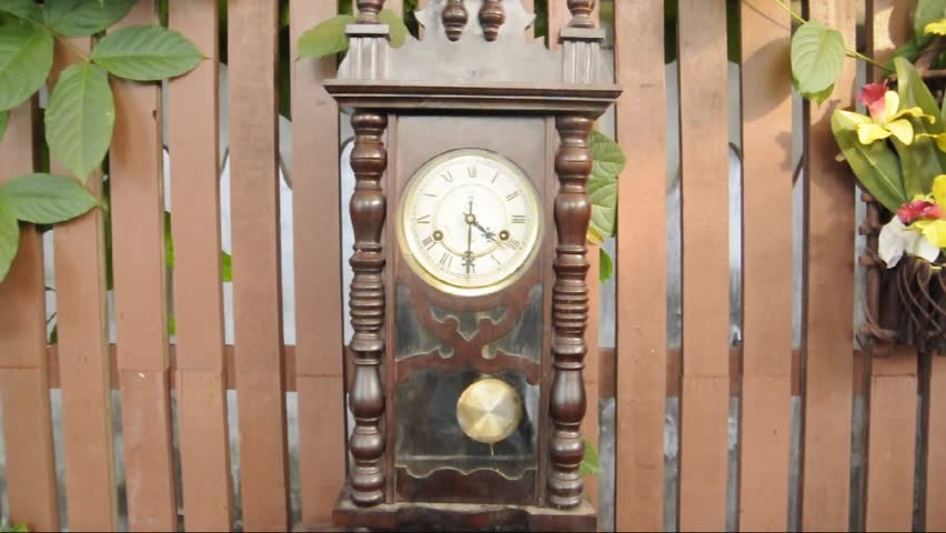 Old antique clock - HD stock video clip