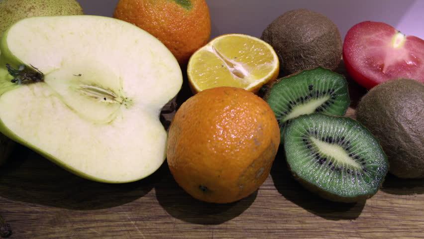 Rotting fruits timelapse