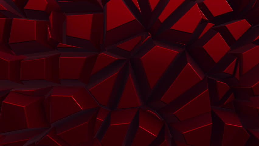 Abstract background with animation moving of dark triangles with glowing light from backdrop. Technologic backdrop with plastic surface. Animation of seamless loop. | Shutterstock HD Video #19444735