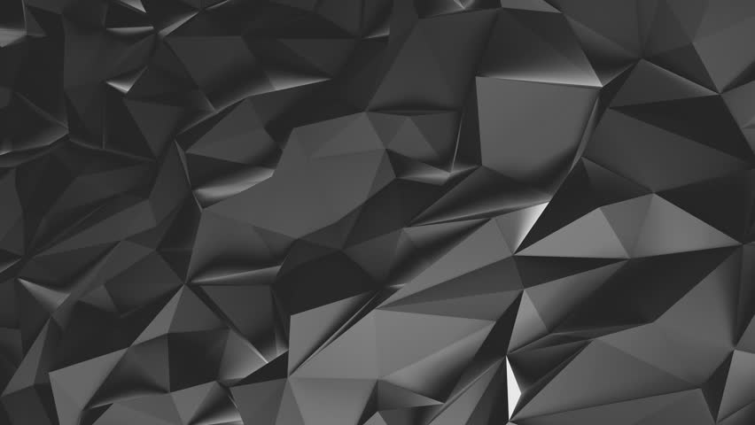 Abstract black 3d rendered geometric background with spikes. Monochrome background consisting of triangles. Abstract 3d rendering of metal surface. Loop video. | Shutterstock HD Video #19615744