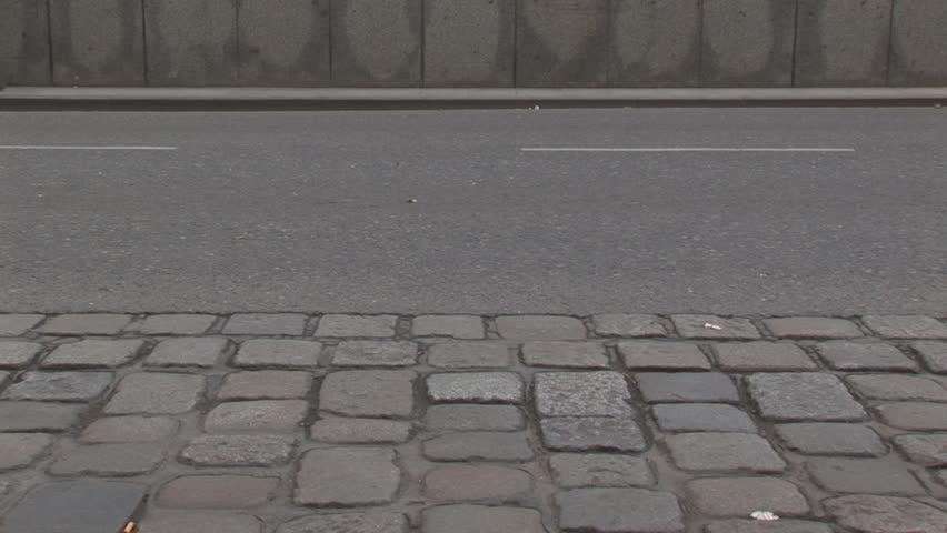 legs of people walking on street, loop long, timelapse - HD stock video clip