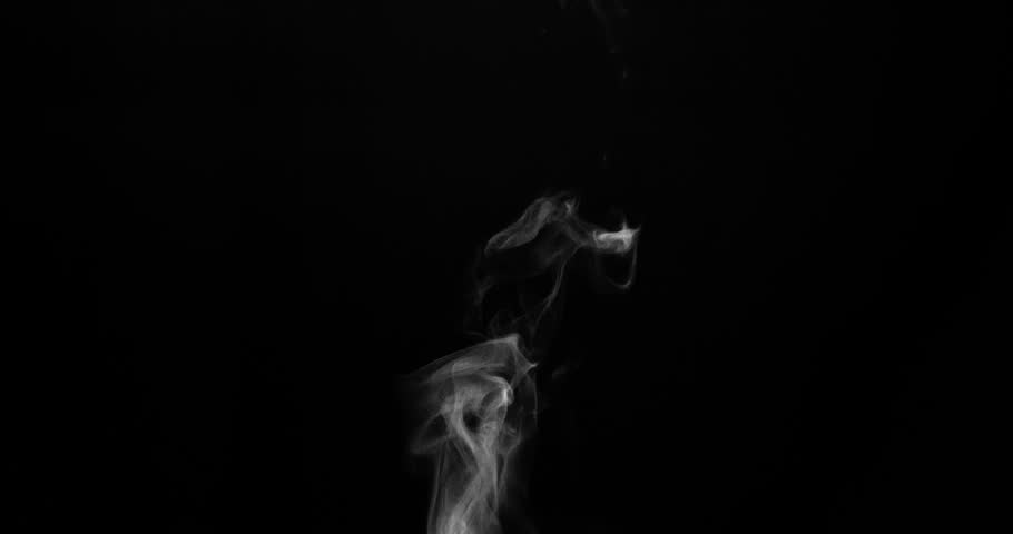 Steam from a Cup of Hot Water. White steam rises light, graceful twists on a black background. Shooting at a rate of 120fps. Footage is perfect for the top layer with different blending modes | Shutterstock HD Video #19649809