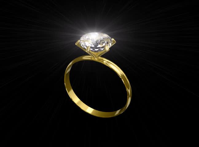 Sparkling diamond ring - SD stock video clip