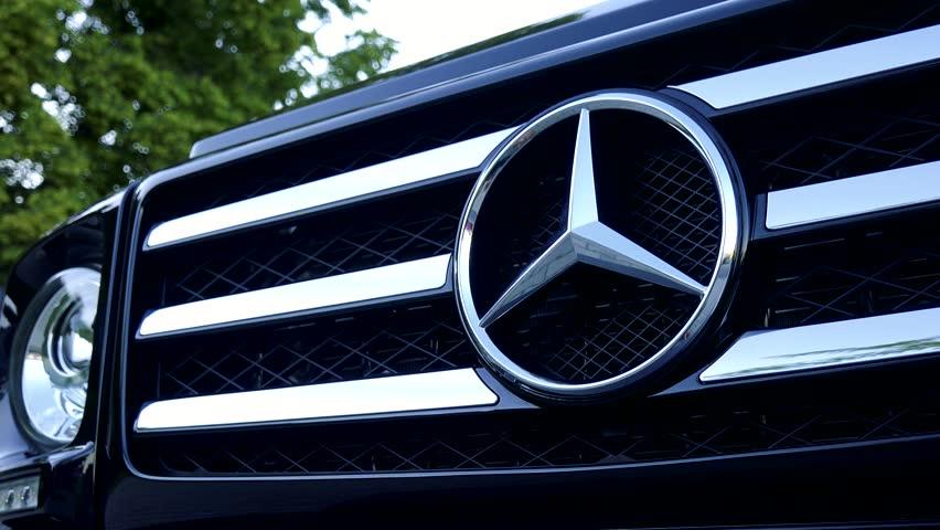 Bavaria dec 2013 audi a3 2013 model driving through for Mercedes benz stock symbol