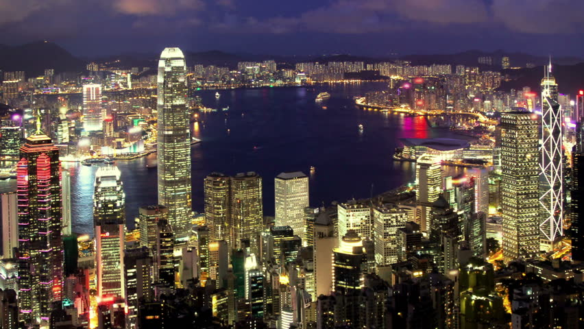 Business City. Hong Kong. Timelapse video from day to night | Shutterstock HD Video #1970083