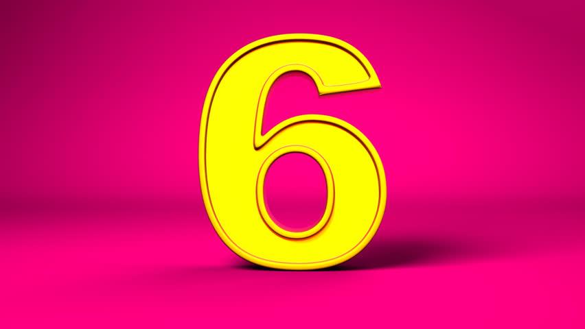 Resultado de imagem para number 6 pink