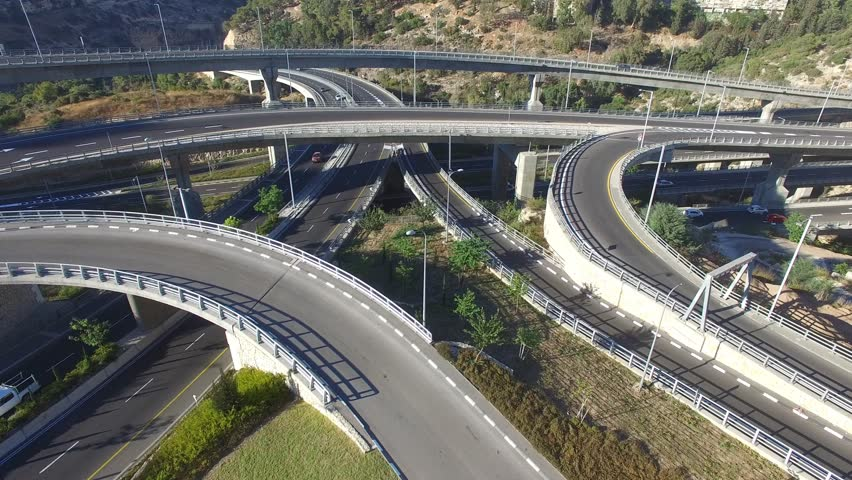 Aerial view of Highway interchange | Shutterstock HD Video #19726732