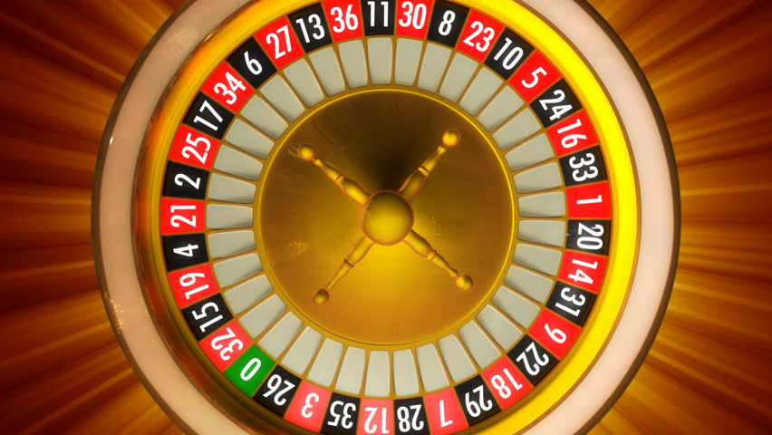 roulette wheel spins clockwise