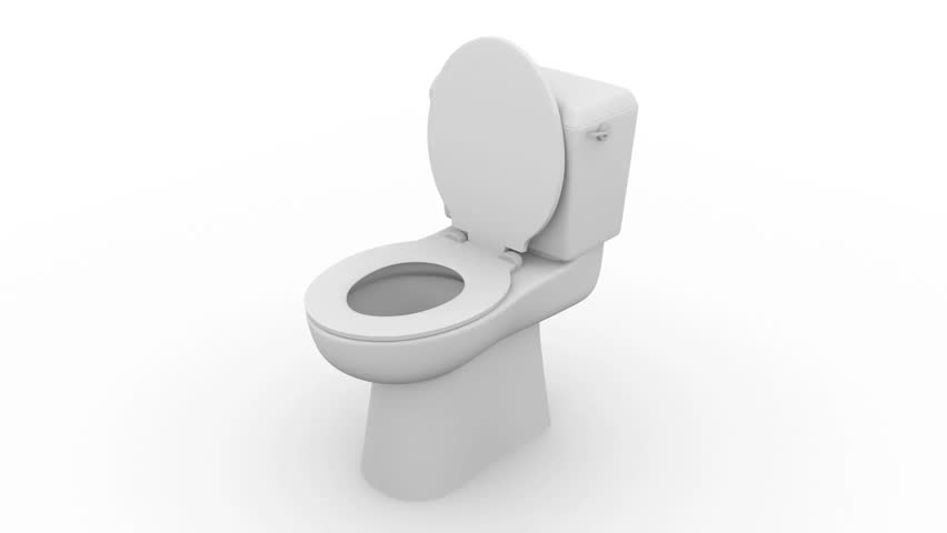 Toilet bowl in white. WC